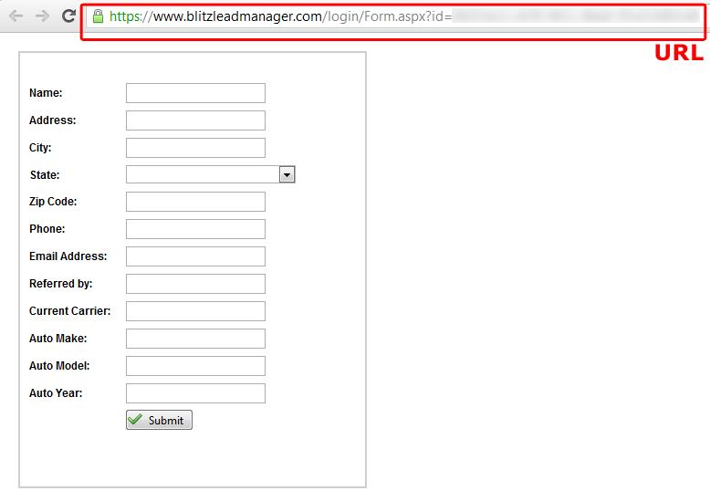 Add A Blitz Web Form To Your Website Blitz