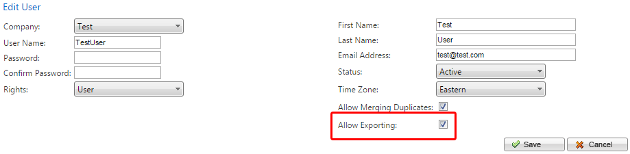 allowexporting