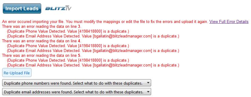 duplicatesimporting