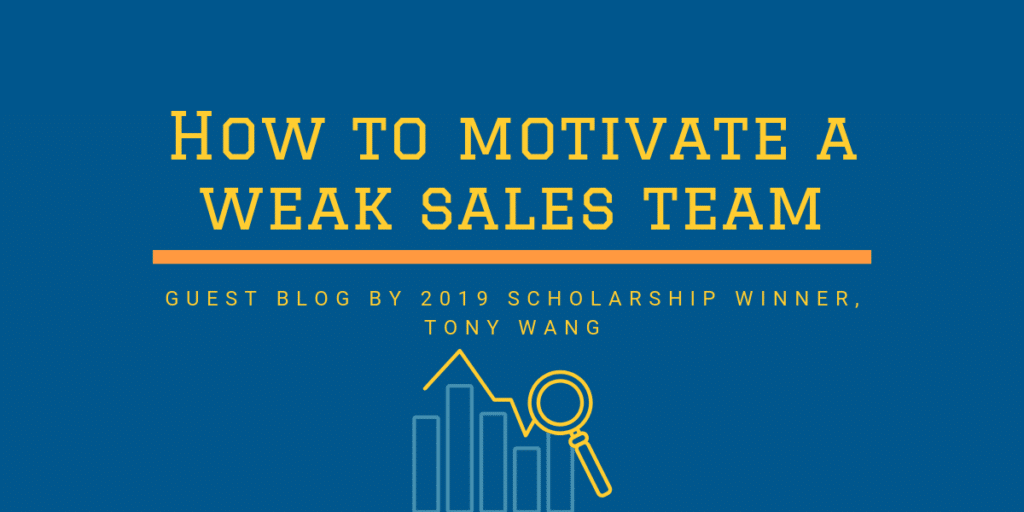how to motivate a weak sales team
