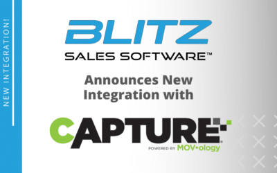 Blitz Sales Software Announces New Integration with Capture®